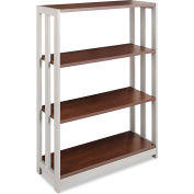 "Linea Italia Bookcase with 3 Shelves - 31-1/2""W x 11-5/8""D x 43-1/4""H - Mocha - Trento Series"