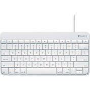 Logitech® Wired Keyboard for iPad, Apple Lightning Connector, Standard, White