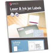 Maco® White All-Purpose Labels, 8 1/2 x 11, 100/Box
