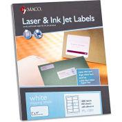 Maco® White All-Purpose Labels, 2 x 4, 1000/Box