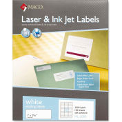 Maco® White All-Purpose Labels, 1 x 2-5/8, 3000/Box