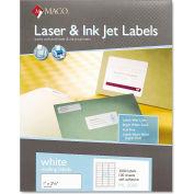 Maco® White All-Purpose Labels, 1 x 2-5/8, 3000/Box