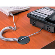 "Master® CordAway® 00202 Adjustable Grommet, 2-3/8"" Diameter, Black, Pack of 1"
