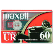 Maxell 109010 Dictation & Audio Cassette, Normal Bias, 60 Minutes (30 x 2)