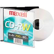 Maxell CD Rewritable Media, MAX630010, CD-RW Media, 4x Speed, 700 MB Capcity