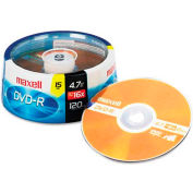 Maxell 638006 DVD-R Discs, 4.7GB, 16x, Spindle, Gold, 15/Pack