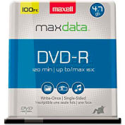 Maxell 638014 DVD-R Discs, 4.7GB, 16x, Spindle, Gold, 100/Pack