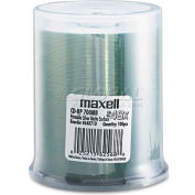 Maxell 648710 CD-R Discs, 700MB/80 min, 48x, Spindle, Printable Matte Silver, 100/Pack