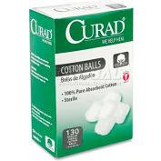 """Curad CUR110163 Sterile Cotton Balls, 1"""", 130/Box"""