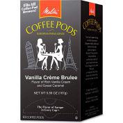 Melitta® Vanilla Creme Brulee Coffee Pods, Arabica Coffee, Regular, 0.3 oz., 18/Box