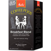 Melitta® Breakfast Blend Coffee Pods, Regular, Light Roast, Arabica Coffee, 18 Pods/Box