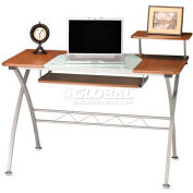 "Mayline Vision Desk, 47-1/4""x27""x34"", Medium Cherry"