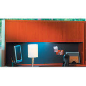 "Mayline AHW72LCR Aberdeen Series Laminate Wood Door Hutch, 72""W x 15""D x 39-1/4""H, Cherry"