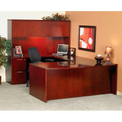 "Mayline DK3672C Luminary Series Wood Veneer Bow Front Desk Shell, 72""W x 42""D x 29""H, Cherry"