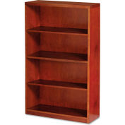 "Mayline MBC3668MC Mira Series Wood Veneer 4-Shelf Bookcase, 34-3/4""W x 12""D x 68""H, Medium Cherry"