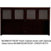 """Mayline MHUF70ESP Mira Series Veneer Assembled Hutch Frame, 70""""W x 14""""D x 39""""H, Espresso"""