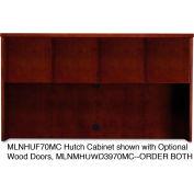 "Mayline MHUF70MC Mira Series Veneer Assembled Hutch Frame, 70""W x 14""D x 39""H, Medium Cherry"
