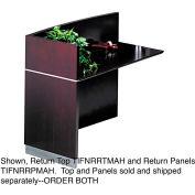 Mayline NRRTMAH Napoli Series Wood Veneer Reception Return Top, Mahogany