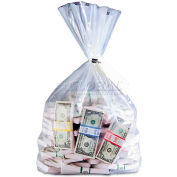 MMF Industries 206410520 Currency Deposit Bags, 12 x 20, Clear, 100/Box