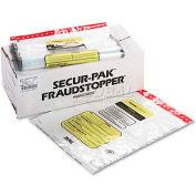 MMF Industries 2362007N20 12 Bundle Capacity Tamper-Evident Cash Bags, 20 x 24, Clear, 250 Bags/Box