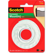 "Scotch® Foam Mounting Double-Sided Tape, 1/2"" Wide x 75"" Long"