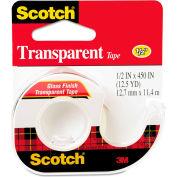 """Scotch® Transparent Tape in Hand Dispenser, 1/2"""" x 450"""", Clear"""