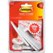 3M Command™ General Purpose Hooks Value Pack, Large, 5lb Cap, White, 3 Hooks & 6 Strips/Pack