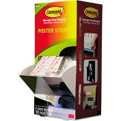 "3M Command™ Poster Strips, 3/4"" x 2 1/8"", White, 100/Carton"