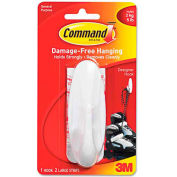3M Command™ General Purpose Hooks, Large, 5-lb Capacity, Plastic, White