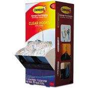 3M Command™ Clear Hooks & Strips, Plastic, Medium, 50 Hooks