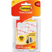 3M Command™ Assorted Refill Strips, White, 16/Pack