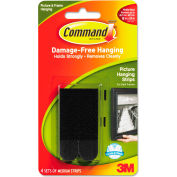 """3M Command™ Picture Hanging Strips, 5/8"""" x 2 3/4"""", Black, 4/Pack"""