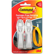 3M™ 17304ES Command™ Strips and Cord Bundlers, White, Pack of 2
