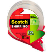 Scotch Sure Start Packaging Tape With Dispenser 48mm x 34m 2.6 Mil Clear