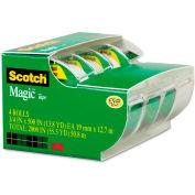 "Scotch® Magic Tape & Refillable Dispenser, 3/4"" x 300"", 1"" Core, 4/Pack"