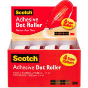 Scotch® Adhesive Dot Roller Value Pack, 0.3 in x 49 ft., 4/PK