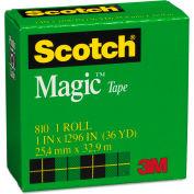 """Scotch® Magic Tape, 1"""" x 1296"""", 1"""" Core, Clear"""