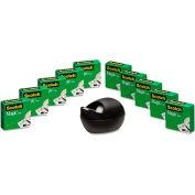 "Scotch® Magic Tape Value Pack with Black Karim Rashid Dispenser, 3/4"" x 1000"", 10/Pack"