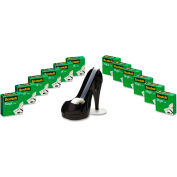 "Scotch® Magic Tape Value Pack with Black Shoe Dispenser, 3/4"" x 1000"", 12/Pack"