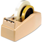 "Scotch® Two-Roll Desktop Tape Dispenser, 3"" Core, High-Impact Plastic, Beige"