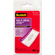 Scotch® Self-Sealing Laminating Pouches, 12.5 mil, 2 13/16 x 4 9/16, Luggage Tag, 5/Pack