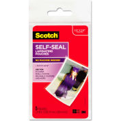 Scotch® Self-Sealing Laminating Pouches, Glossy, 2 15/16 x 3 15/16, Wallet Size, 5/Pack