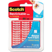 "Scotch® Restickable Mounting Tabs, 1"" x 1"", 18/Pack"