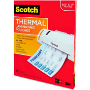 Scotch® Letter Size Thermal Laminating Pouches, 3 mil, 11 1/2 x 9, 100 per Pack
