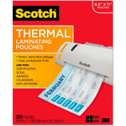 Scotch® Letter Size Thermal Laminating Pouches, 3 mil, 11 2/5 x 8 9/10, 200 per Pack