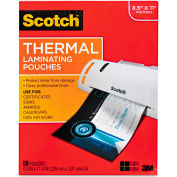 Scotch® Letter Size Thermal Laminating Pouches, 3 mil, 11 1/2 x 9, 50/Pack