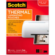 Scotch® Letter Size Thermal Laminating Pouches, 5 mil, 11 1/2 x 9, 50/Pack