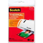 Scotch® Photo Size Thermal Laminating Pouches, 5 mil, 7 x 5, 20/Pack