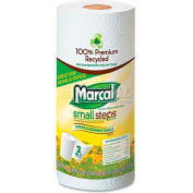 "Marcal Small Steps 100% Premium Recycled Roll Towels, 9"" X 11"", 15 Rolls/Case - MRC6709"