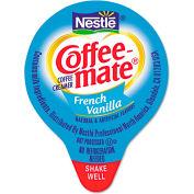Coffee-Mate Liquid Creamer Mini Cups, French Vanilla, Non-Dairy, 0.38 Oz, 180/Box